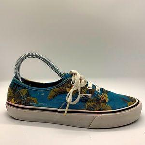 Women's Vans canvas print boat shoes